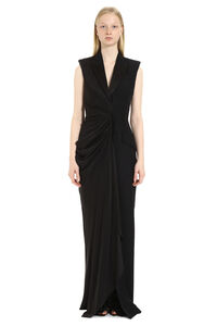 Draped asymmetric dress, Maxi dresses Alexander McQueen woman