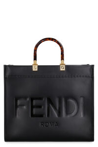 Sunshine leather tote, Tote bags Fendi woman