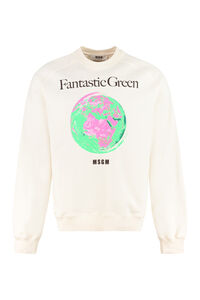 Printed cotton sweatshirt, Sweatshirts MSGM man