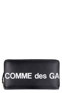 Logo leather wallet, Wallets Comme des Garçons Wallet man
