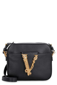 Virtus leather mini crossbody bag, Shoulderbag Versace woman