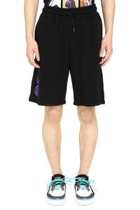 Short stretch cotton track-pants, Shorts Marcelo Burlon County of Milan man
