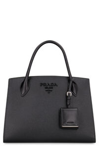 Prada Monochrome saffiano leather bag, Top handle Prada woman