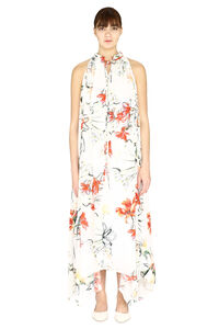 Printed silk long dress, Printed dresses Alexander McQueen woman