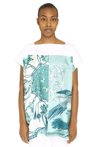 Knitted cotton and silk top, Printed tops Salvatore Ferragamo woman