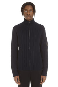 Wool blend sweater, Knitted zip throughs C.P. Company man