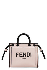 Fendi Roma canvas mini handbag, Top handle Fendi woman
