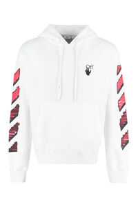 Printed cotton sweatshirt, Hoodies Off-White man