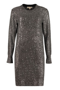 Knitted lurex maxi-dress, Mini dresses MICHAEL MICHAEL KORS woman