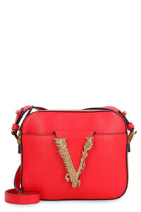 Virtus leather camera bag, Shoulderbag Versace woman