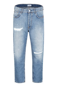 Adon destroyed effect straight leg jeans, Straight jeans Amish man