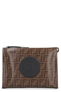 Coated canvas clutch, Poches Fendi man