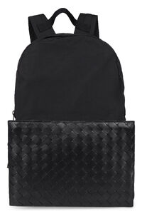 Leather and nylon backpack, Backpack Bottega Veneta man