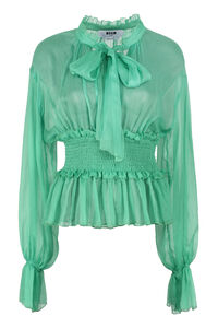Silk georgette blouse, Blouses MSGM woman