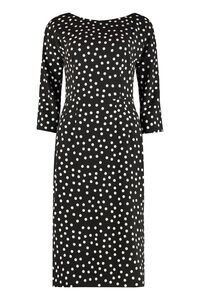 Polka-dot crepe sheath dress, Mini dresses Dolce & Gabbana woman