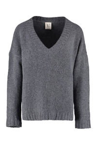 Wool and cashmere sweater, V neck sweaters L'Autre Chose woman