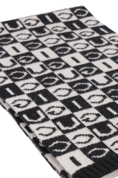 All over logo wool scarf