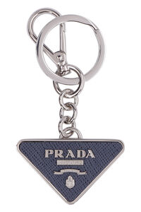 Steel keyring with decorative charm, Keyrings Prada man