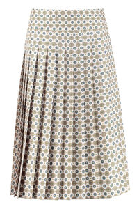 Carmine printed silk pleated skirt, Pleated skirts Tory Burch woman