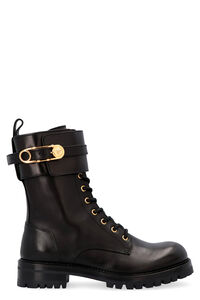Leather combat boots, Ankle Boots Versace woman