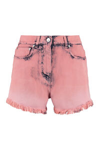 High-rise cut-off denim shorts, Denim Shorts MSGM woman