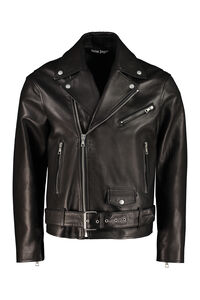 Belted leather jacket, Leather jackets Palm Angels man