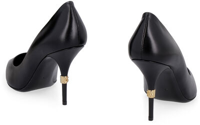 Cardinale leather pointy-toe pumps