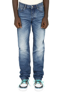 5-pocket straight-leg jeans, Straight jeans AMI man