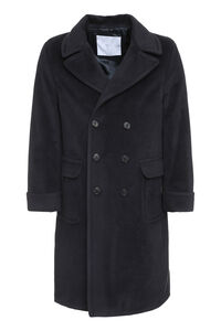 Wool blend double-breasted coat, Overcoats GM 77 man