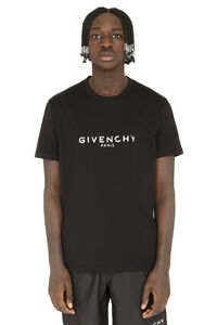 Logo print cotton t-shirt, Short sleeve t-shirts Givenchy man