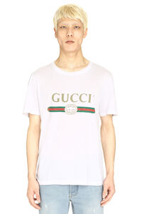 Gucci printed cotton t-shirt, Short sleeve t-shirts Gucci man