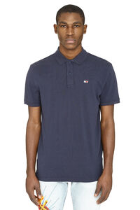 Stretch cotton piqué polo shirt, Short sleeve polo shirts Tommy Jeans man
