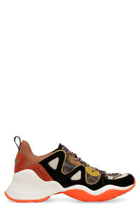 Techno fabric and suede sneakers, Low Top Sneakers Fendi man