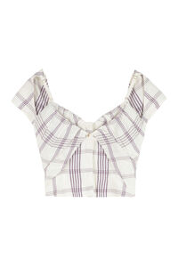 Tovallo linen blend top, Crop tops Jacquemus woman