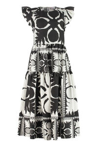 Cotton poplin dress, Printed dresses Red Valentino woman