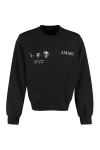 Medical Hemp cotton crew-neck sweatshirt, Sweatshirts AMIRI man