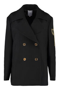 Double-breasted virgin wool coat, Double Breasted Patou woman