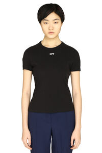 Ribbed cotton t-shirt, T-shirts Off-White woman