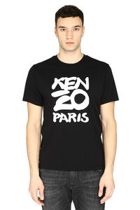 Logo print cotton t-shirt, Short sleeve t-shirts Kenzo man