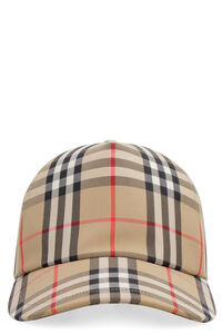 Vintage check baseball cap, Hat Burberry woman