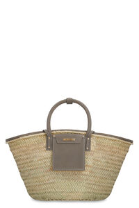 Le Panier Soleil raffia handbag, Top handle Jacquemus woman
