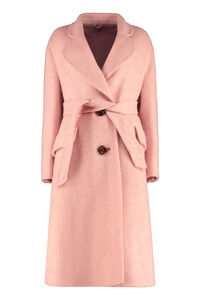 Oversize belted coat, Knee Lenght Coats Miu Miu woman