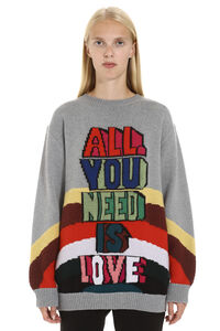 'All Together Now' virgin wool sweater, Crew neck sweaters Stella McCartney woman