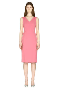 Crepe sheath dress, Midi dresses Dolce & Gabbana woman
