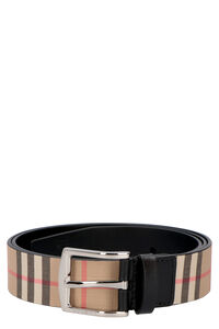 Canvas and leather belt, Belts Burberry man