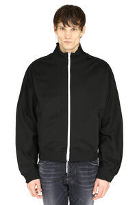 Techno fabric full-zip sweatshirt, Zip through Maison Margiela man