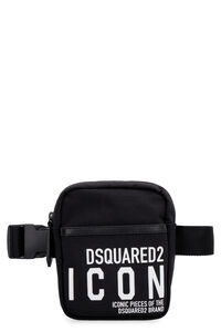 Icon technical fabric belt bag with logo, Beltbag Dsquared2 man