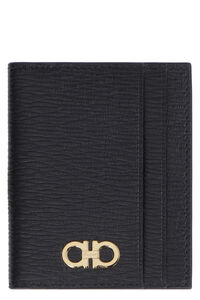 Gancini leather card holder, Wallets Salvatore Ferragamo man