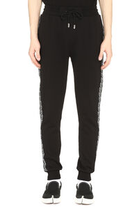 Hexagon track-pants with decorative stripes, Track Pants Philipp Plein man