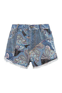 High-rise cut-off denim shorts, Denim Shorts Etro woman